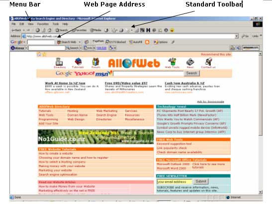 The Internet: Web Pages